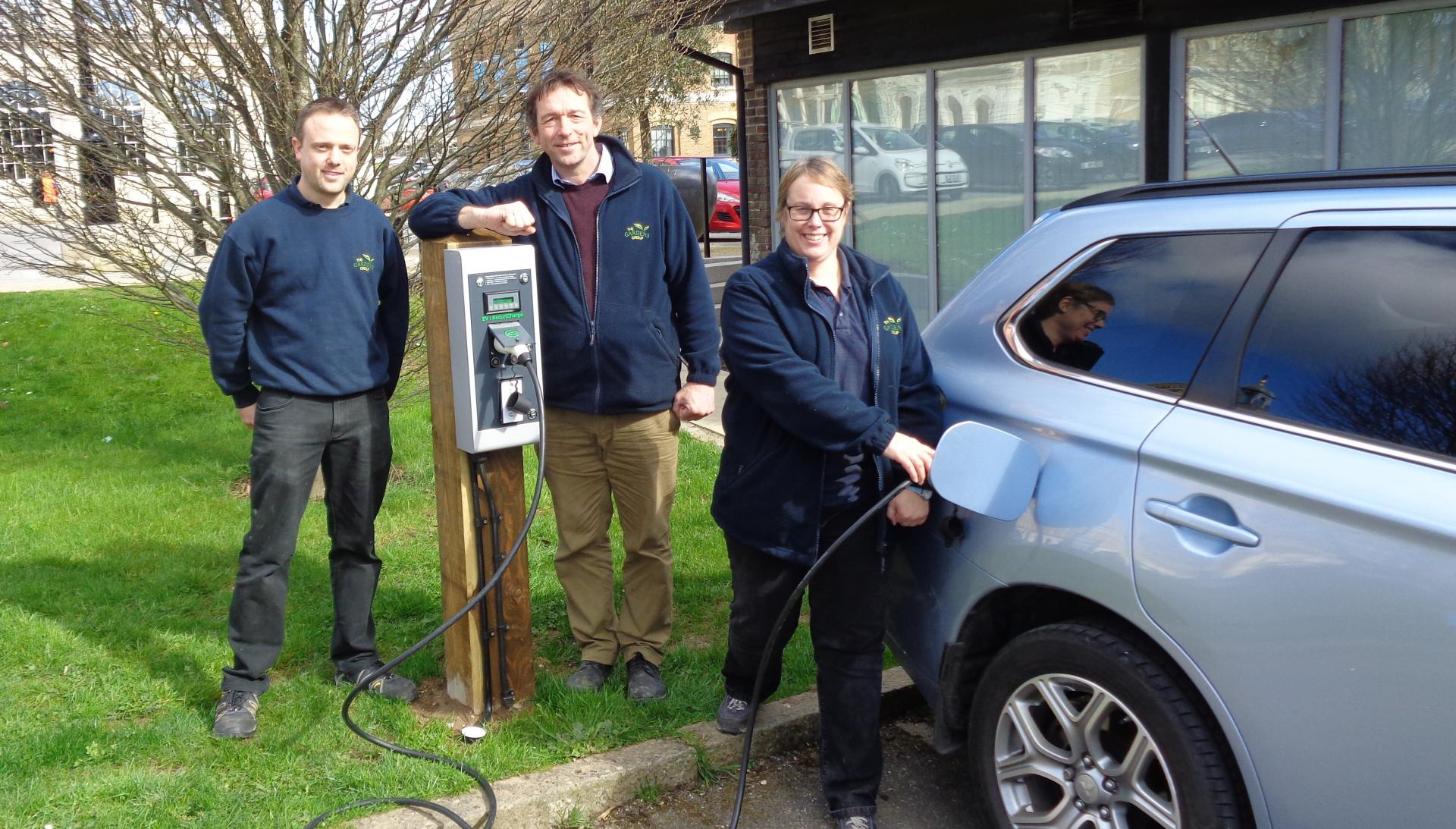 Electric Car charging points in Poundbury