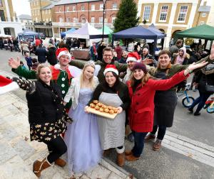 Poundbury Christmas Market in the Buttermarket